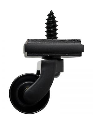 Black Matt Screw Castor with Square Embellisher