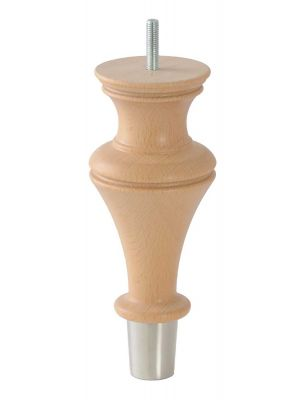 Davina Furniture Leg With Brushed Nickle Cup