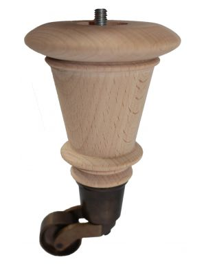 Faye Raw Furniture Legs with Antique Castors