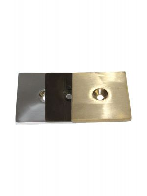 40mm Square Disc Solid Brass Floor Protectors
