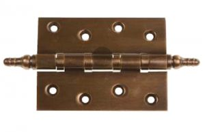 Antique Brass Hinge mit Finials